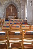 Chairs and bibles in the church. — Stock Photo