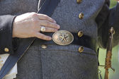 Civil war era buckle and part of uniform. — Stock Photo