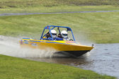 Sprint boat competitor on short course. — Stock Photo