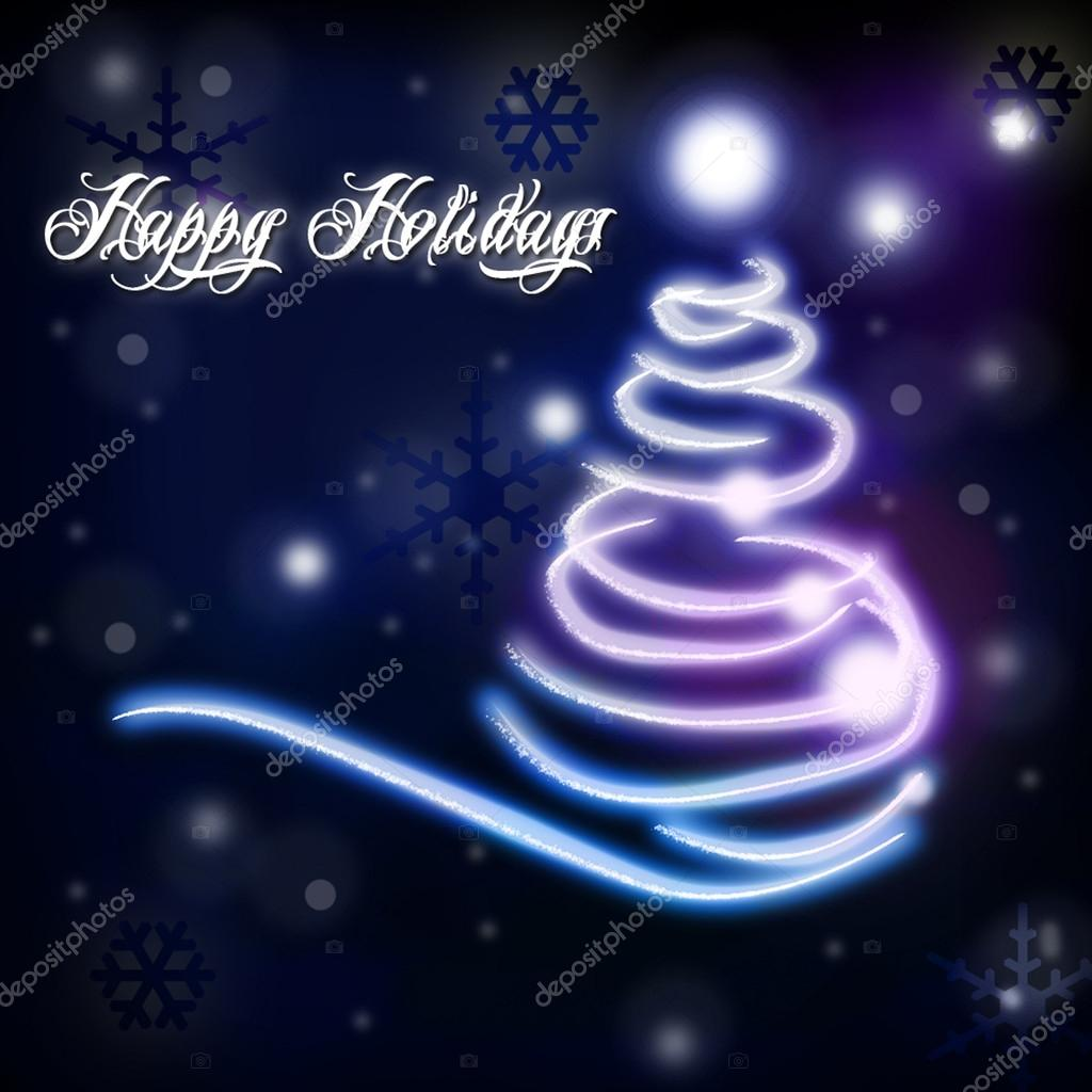 Happy Holidays themes with christmas tree. — Stock Photo #12769840