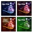 Abstract christmas tree. Happy Holidays. — Stock Photo