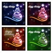 Abstract christmas tree. Happy Holidays. — Stock Photo