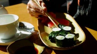 Sushi rolls. — Stock Video