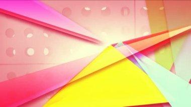 Beat üçgen hareketli. origami arka plan. — Stok video