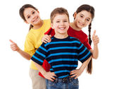 Group of happy children — Stock Photo