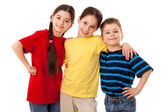 Friends - three kids together — Stock Photo