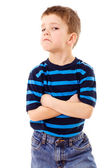 Discontent little boy — Stock Photo