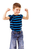 Sterke kind tonen de spieren — Stockfoto