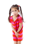 Little girl need a pee — Stock Photo