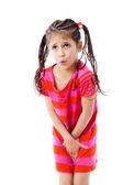 Little girl need a pee — Stock Photo