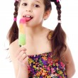 Girl with water ice cream — Stock Photo