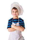 Glad little chef — Stock Photo