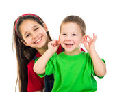 Happy kids together — Stockfoto