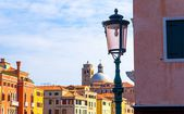 Venice skyline behind a Lamppost — Stock Photo