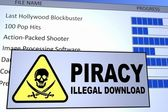 Piracy Download — Stock Photo