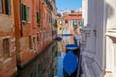 Venice Channel Behind the Church — Stock Photo