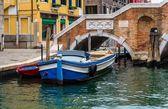 Venice Parked Boats — Stock Photo