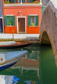 Burano Boats — Stock Photo