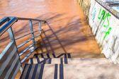 Nehir taşkın — Stok fotoğraf