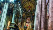 Salão catedral de milão — Foto Stock