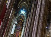 Colunas de catedral de milão — Foto Stock