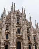 米兰大教堂门面 — 图库照片