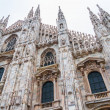 Milan Cathedral Low Angle - Stock Photo
