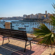 Stock Photo: Bench at Bay