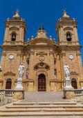 Kościół parafialny w xagħra — Zdjęcie stockowe