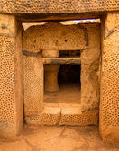 Mnajdra tempel deur — Stockfoto