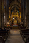 Santiago Cathedral Interior — Stock Photo