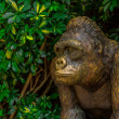 Stock Photo: Golden Ape Statue