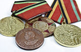 Medals for honours in protection — Stock Photo