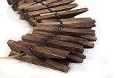 Trä klädnypor — Stockfoto