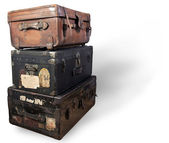 Antique steamer trunk. — Stock fotografie