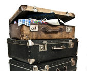 Antique treasure chests — Stock Photo
