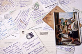 Soviet Union retro post cards — Stock Photo