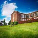 Old high school — Stock Photo