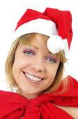 Noel kızı — Stok fotoğraf