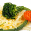 Stock Photo: Cheese and vegies