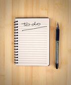 сделать список — Стоковое фото