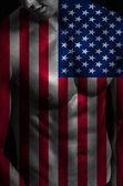 Hombre con bandera — Foto de Stock