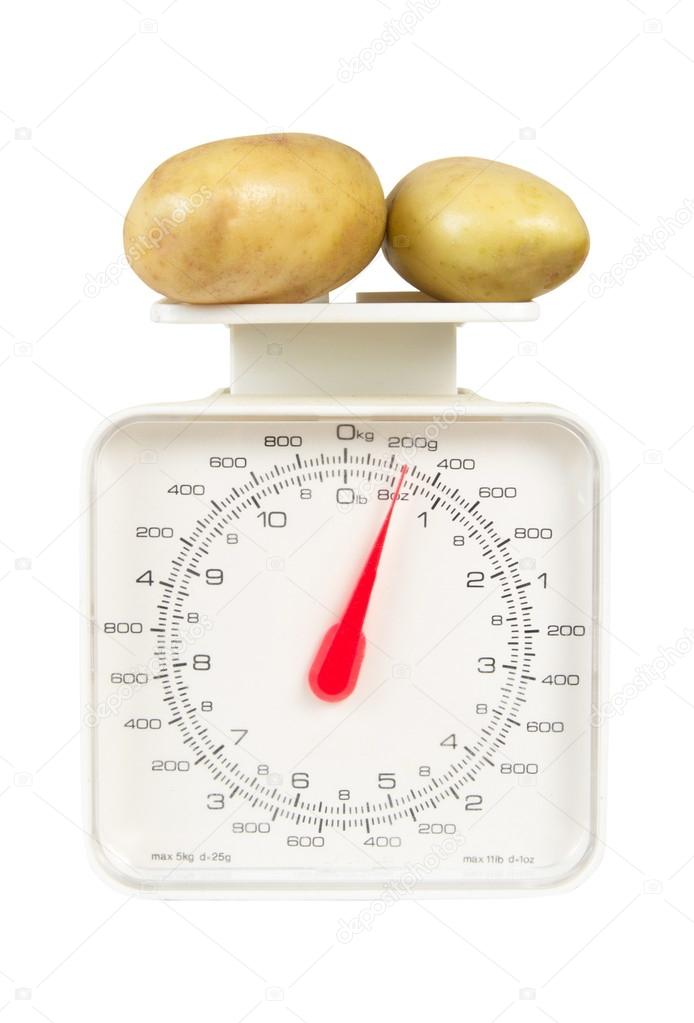 aardappel gewicht