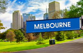 Melbourne sign — Stock Photo