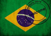 Bandera de brasil — Foto de Stock