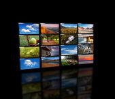 Экранов Телевизоров — Стоковое фото