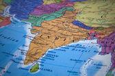Mapa de india — Foto de Stock