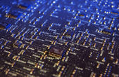 Microchips on a circuit board — Stock Photo