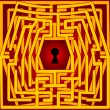 Royalty-Free Stock Vector Image: Postcard with a labyrinth