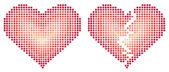 Two abstract heart vector — Stock Vector